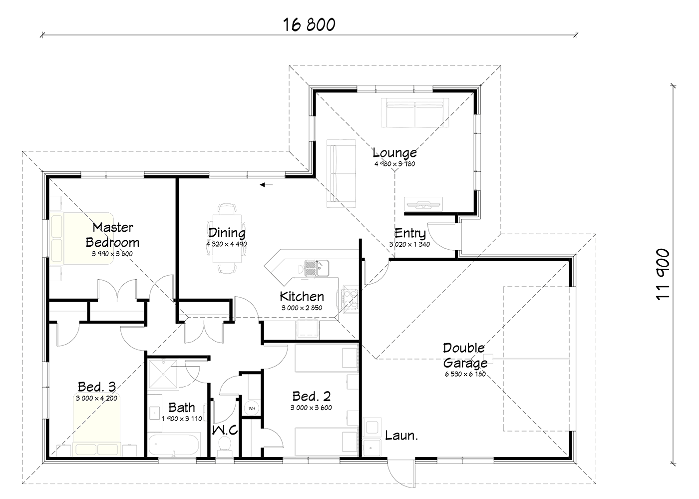 FH160A floor plan