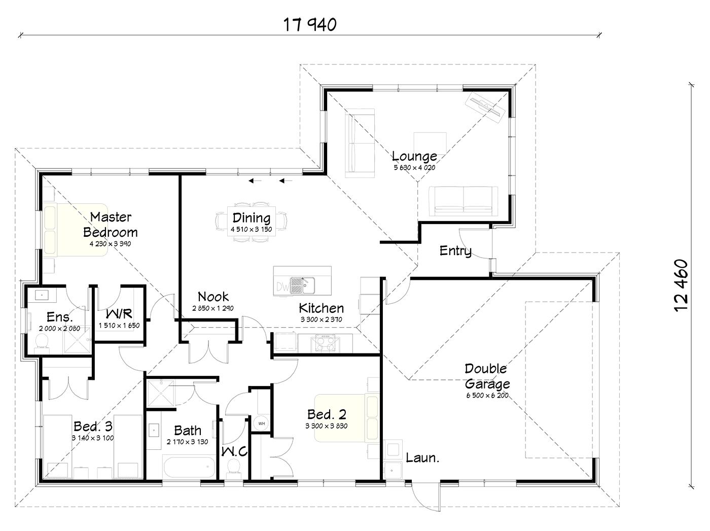 FH180 floor plan
